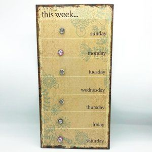 This Week... Metal Planning Board With Magnets